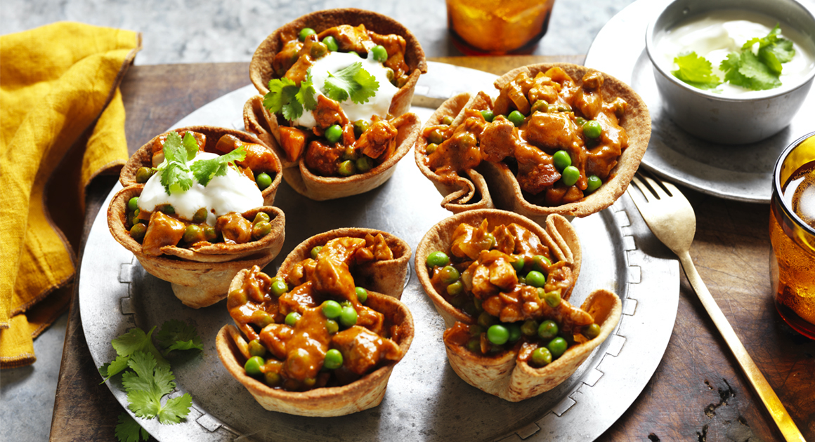 Butter Chicken Roti Bowls