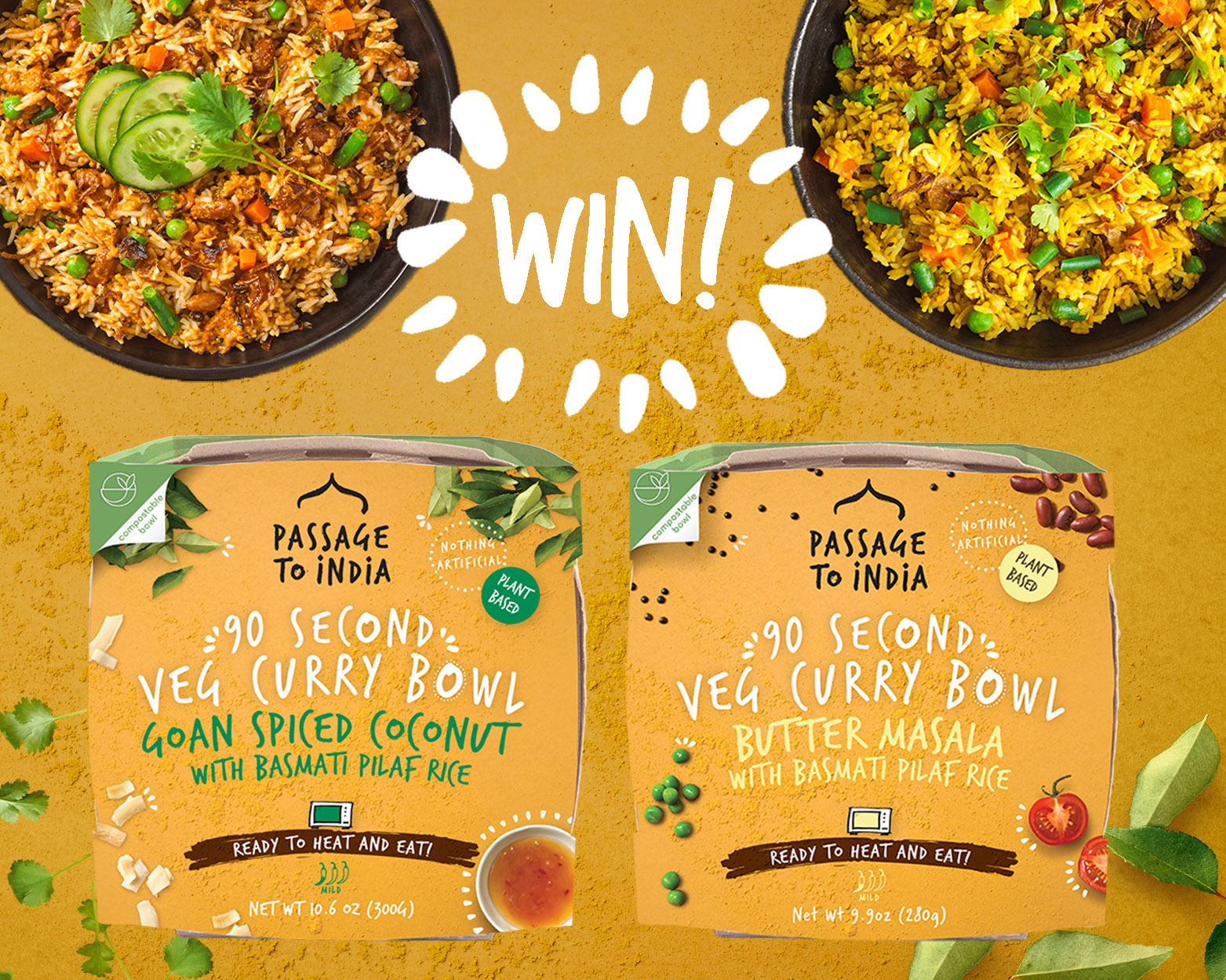 Celebrate Health News Veg Curry Bowl Giveaway Feature Image