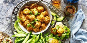 chicken korma meatballs